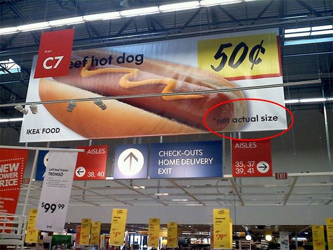 Etiketlerdeki ve afişlerdeki gereksiz uyarılar