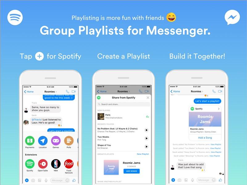 Spotify'dan 'Messenger için Grup Çalma Listeleri'