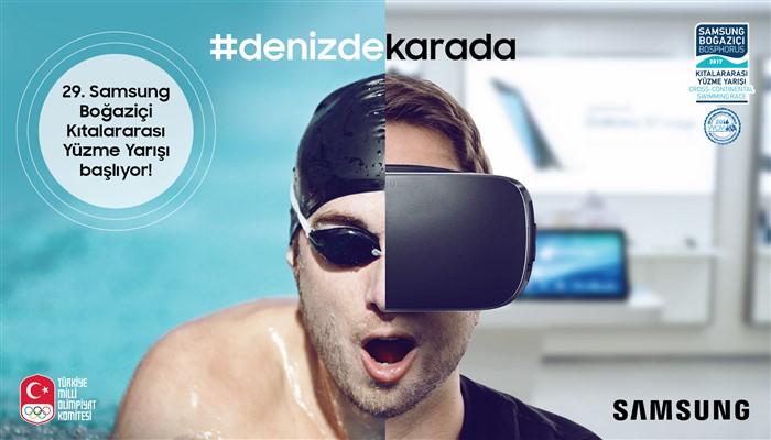 Samsung ile hem denizde hem karada yüzme yarışı