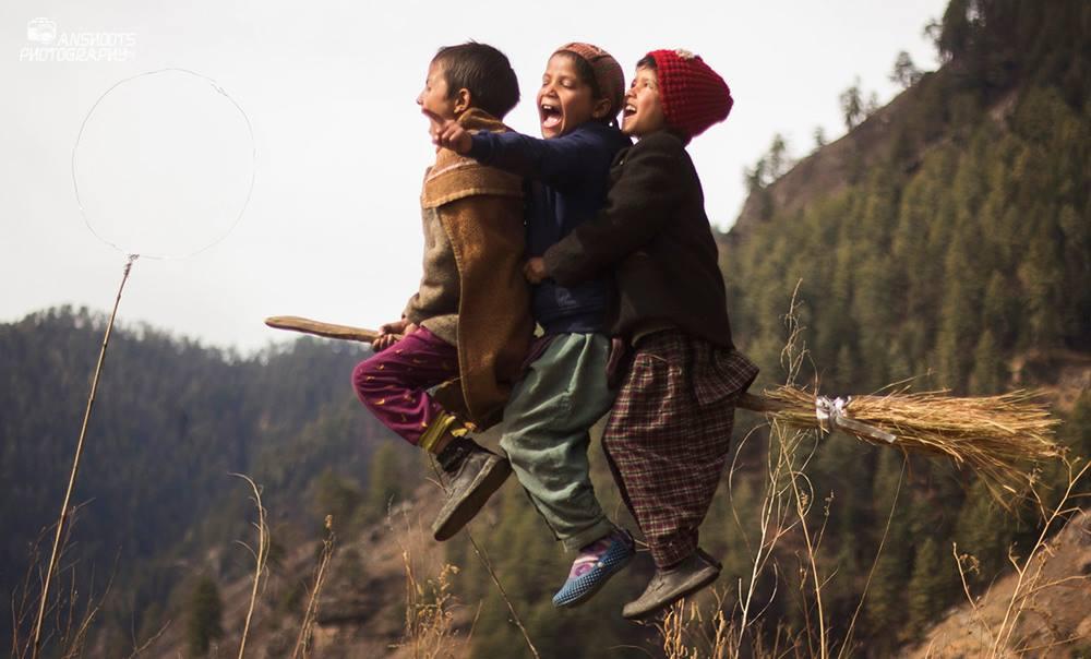 Himalaya köyünde Quidditch maçı