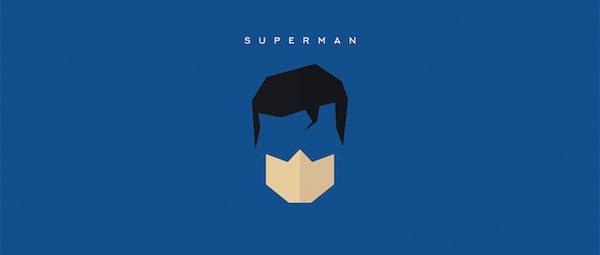 Süper kahramanların geometrik illüstrasyonları