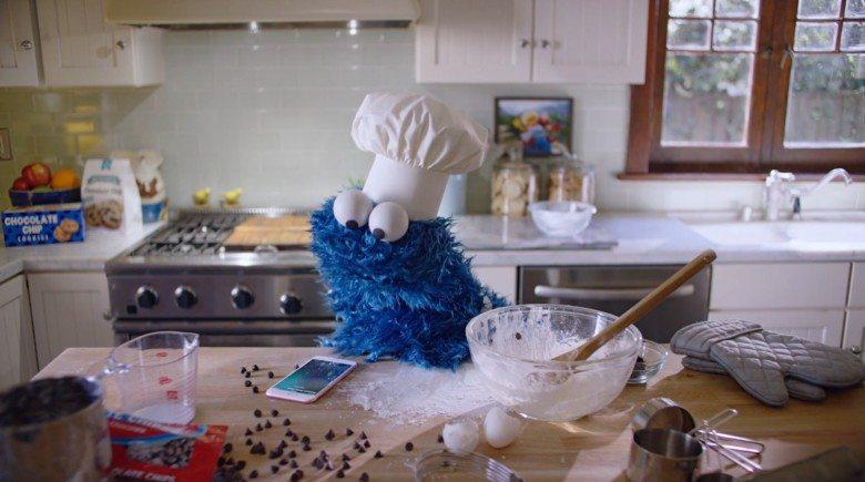 iPhone reklamının son yıldızı: Cookie Monster