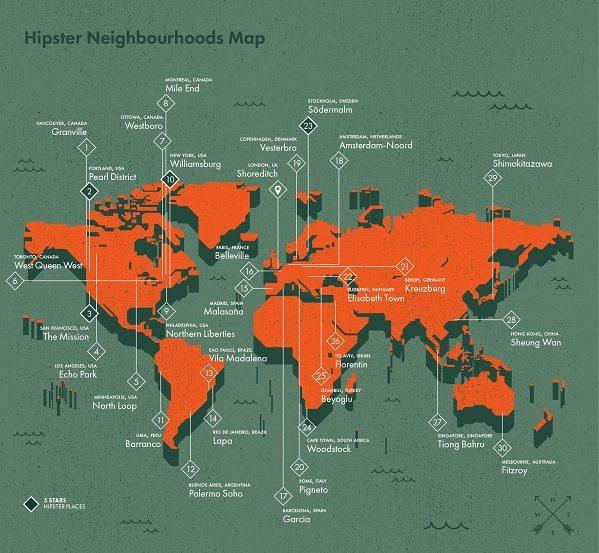 Dünyanın en hipster şehirleri nereler?