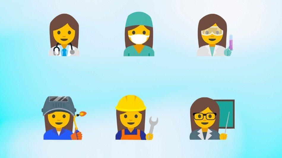 Google'dan çalışan kadını temsil eden 13 emoji