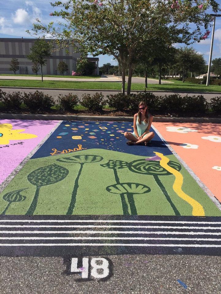 High School Painted Parking Spots Ideas Hexopict Wall Ideas