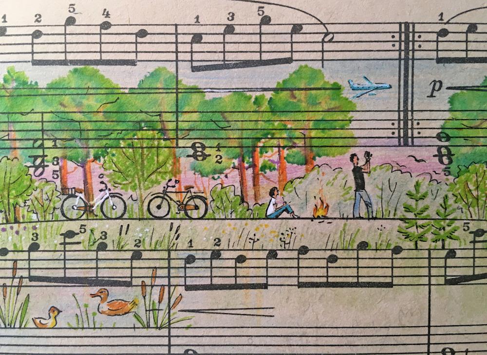 Rengarenk sayfalarda müzik ve resim bir arada