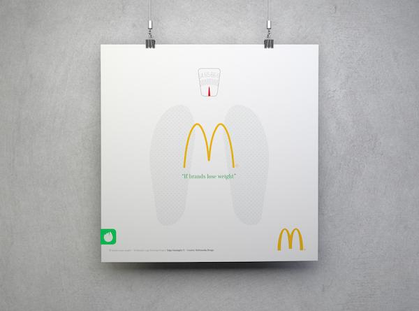 Ünlü logolar kilo verirse