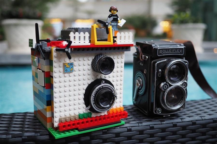 LEGO parçalarıyla hazırlanan kamera