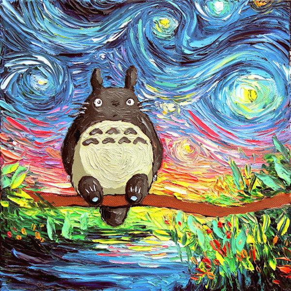 Yıldızlı Gece tablosuna popüler kültür dokunuşları