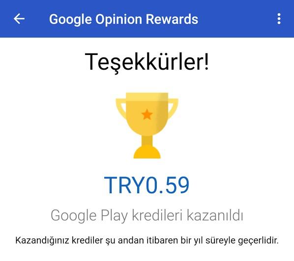 Google Ödüllü Anketler ile kredi kazanın