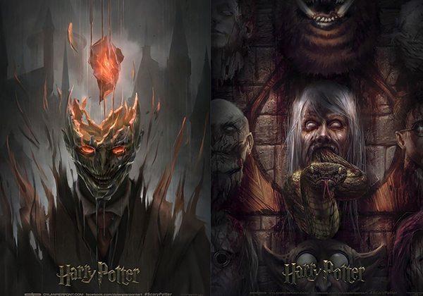 Harry Potter posterlerine korkutucu alternatifler