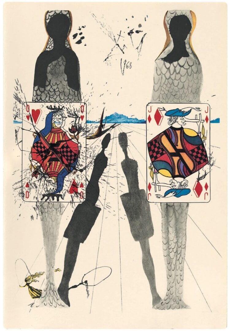 "Salvador Dali'den ""Alice Harikalar Diyarında"" illüstrasyonları"