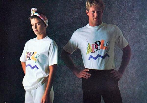 Apple, 80'lerde kıyafet satıyordu