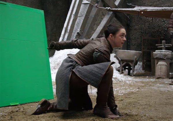 Arya ve Brienne'in dövüş sahnesi nasıl çekildi?