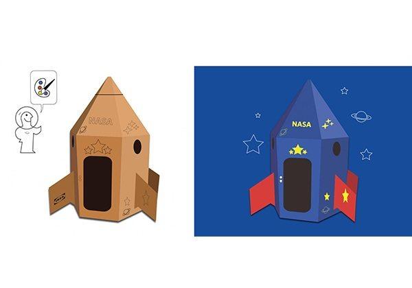 IKEA kutularını uzay aracına dönüştürün