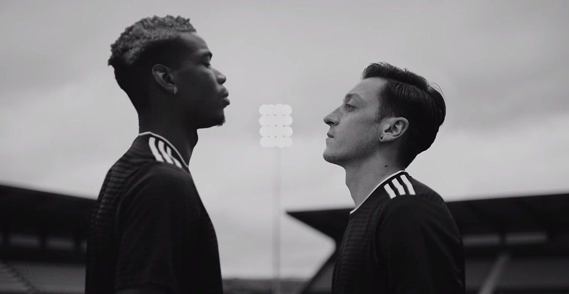 adidas reklamında Mesut Özil, Pogba'nın karşısına çıkıyor