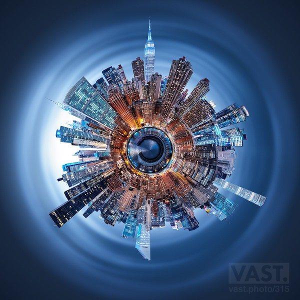 Manhattan silüetinin 600 megapiksel fotoğrafı