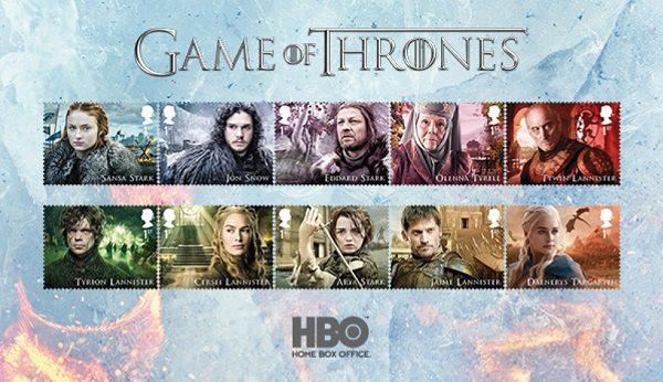 Game of Thrones temalı posta pulları