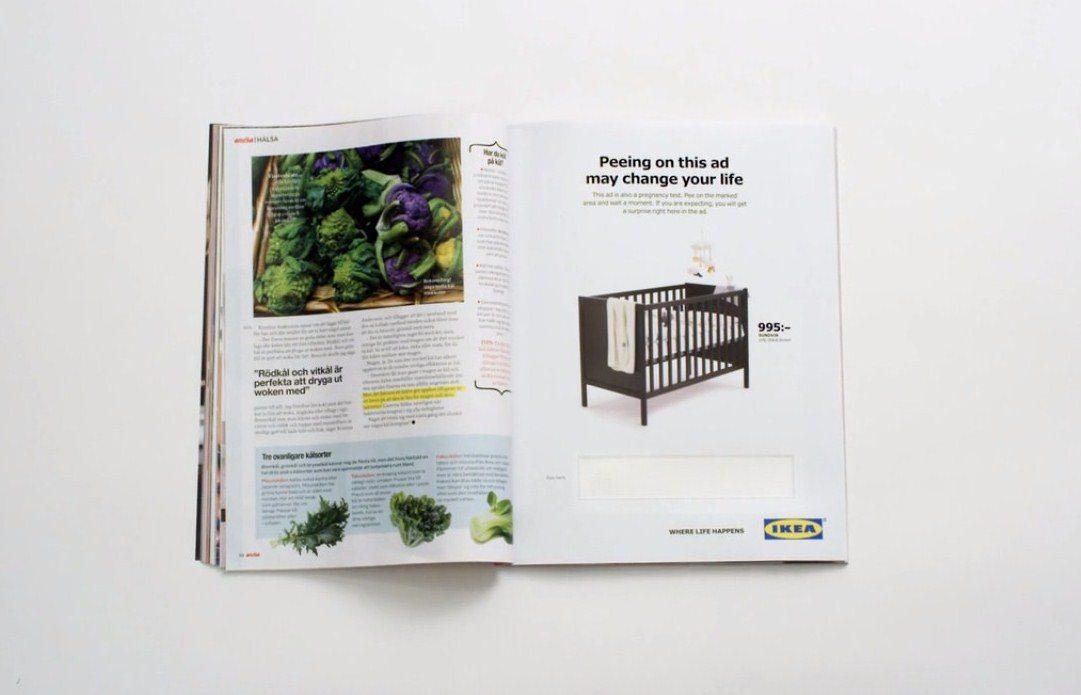 IKEA, reklam ilanlarını gebelik testine çevirdi