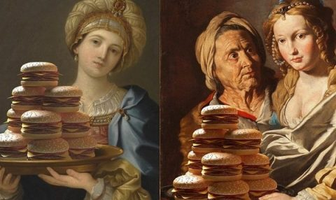 Sanat eserlerine hamburger dokunuşu