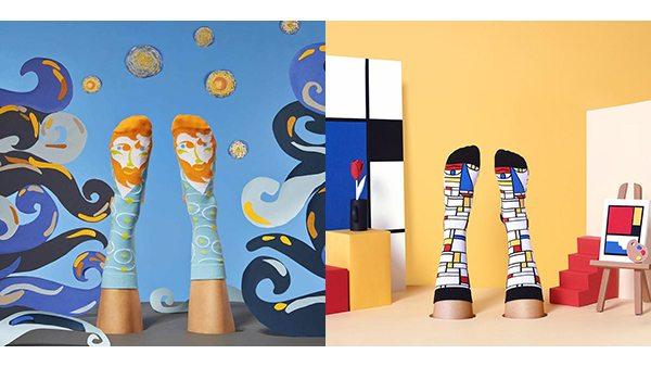 Dali, Warhol ve Picasso'lu çoraplar ile yürüyüşe çıkın
