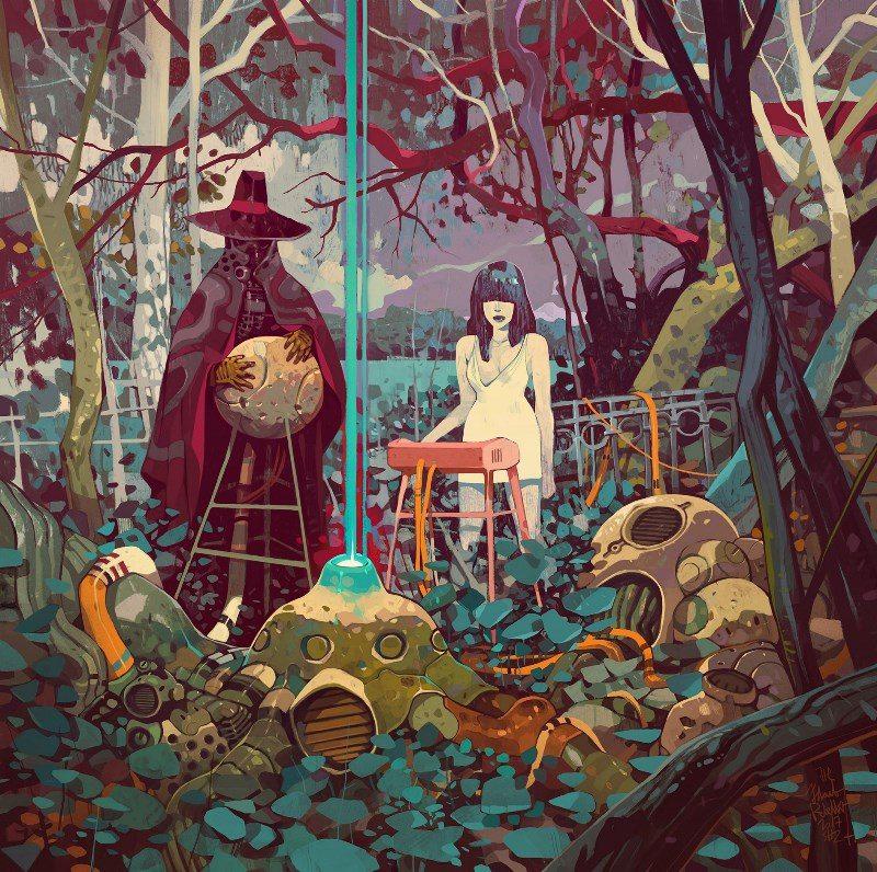 Hikayelerden fırlamış gibi duran cyberpunk ve fantastik tablolar