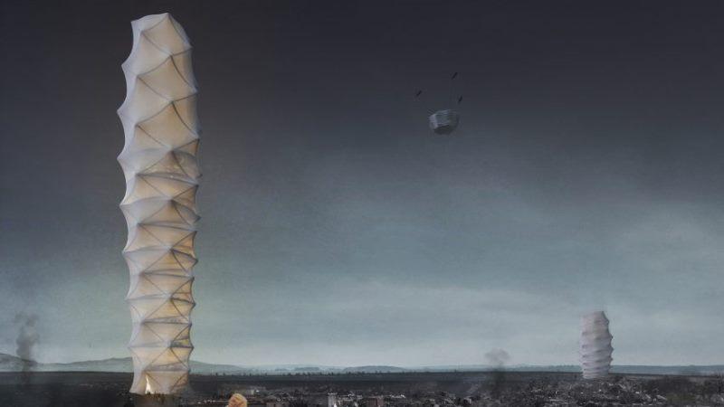 Polonyalı mimarlar katlanabilir gökdelen tasarladılar