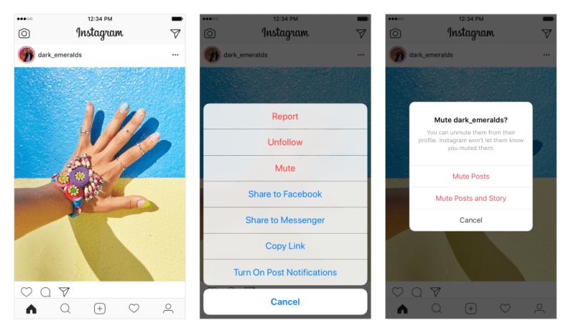 """Instagram """"mute"""" fonksiyonu getiriyor"""
