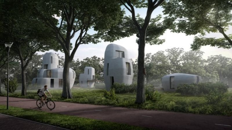 Dünyanın ilk üç boyutlu basılmış konut projesi Hollanda'da yapılıyor