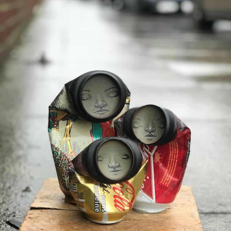 Sanatçı galeriler tarafından reddedilen sanatını sokaklara taşıyor