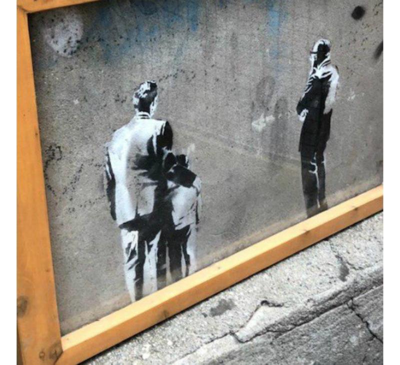 Banksy sergisi başka bir sanatçı tarafından protesto edildi