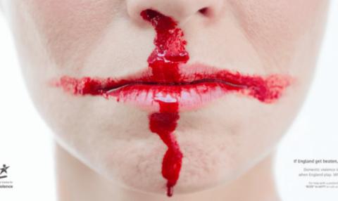 Dünya Kupası heyecanı sırasında aile içi şiddete dikkat çeken kampanya